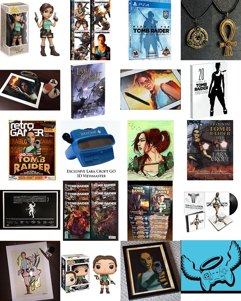 Tomb Raider Community Extra Life Raffle Prizes