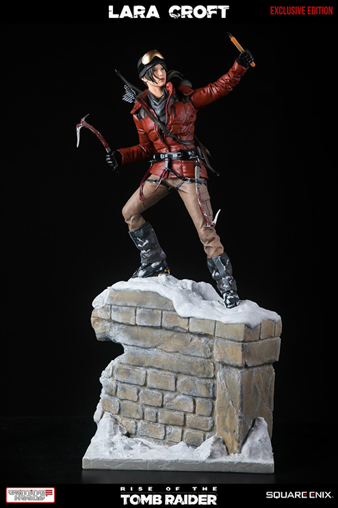 Lara Croft Rise of the Tomb Raider Deluxe Edition statue by Gaming Heads