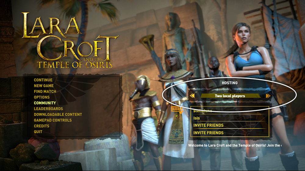Setting up couch co op for ps4 lara croft and the temple for Couch coop ps4