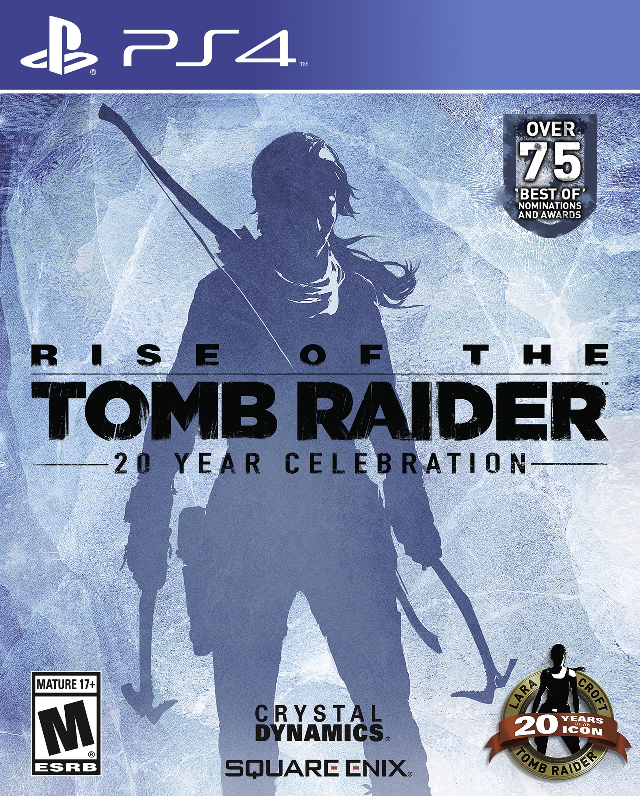 Kết quả hình ảnh cho Rise of the Tomb Raider 20 Year Celebration cover ps4