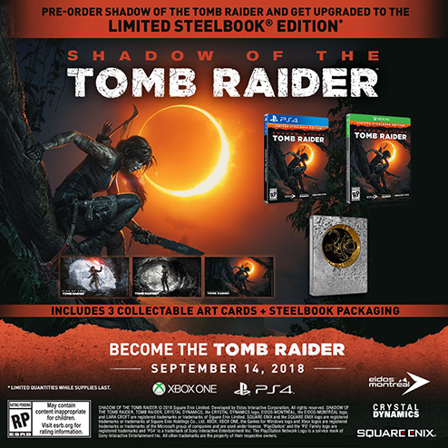 Shadow of the Tomb Raider Croft Steelbook Edition details