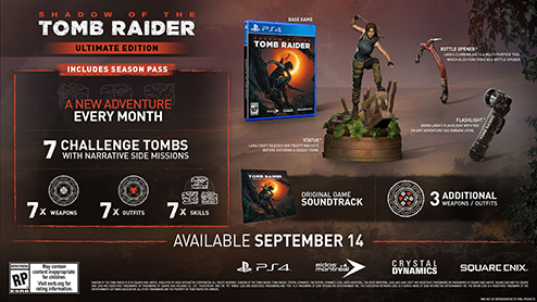 Shadow of the Tomb Raider Ultimate Edition details