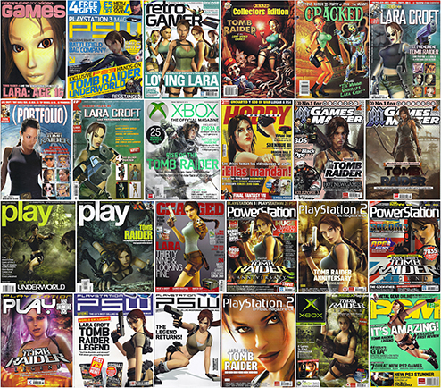 Lara Croft Tomb Raider magazine covers
