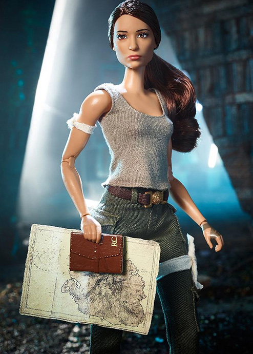 Lara Croft Barbie inspired by Alicia Vikander's portrayal in the Tomb Raider film