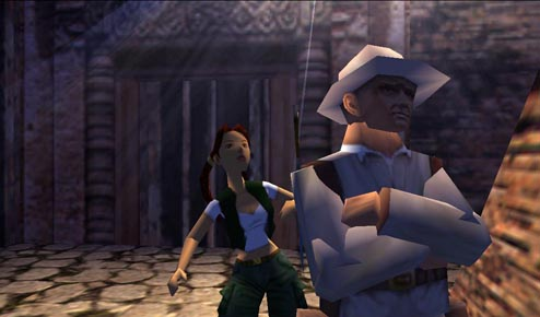 Lara Croft and Werner Von Croy