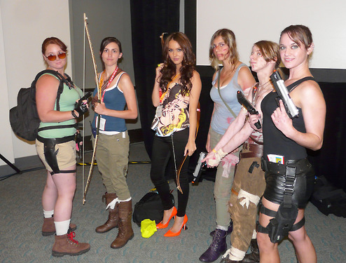 Lara Croft cosplayers