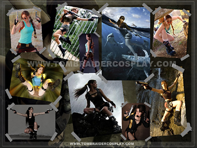 Tomb Raider cosplayer collage - click for full-size image