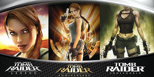 Tomb Raider Legend, Anniversary and Underworld