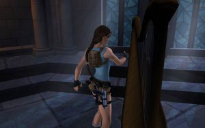 Screenshot of Lara in Tomb Raider: Anniversary for Mac