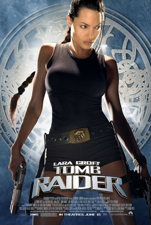Movie poster - Lara Croft: Tomb Raider starring Angelina Jolie