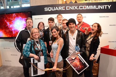 Tomb Raider fans at the Square Enix Booth