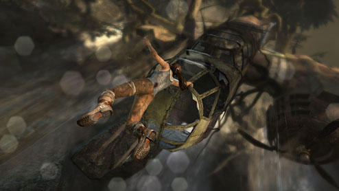 Hanging on for Life screenshot from the new Tomb Raider