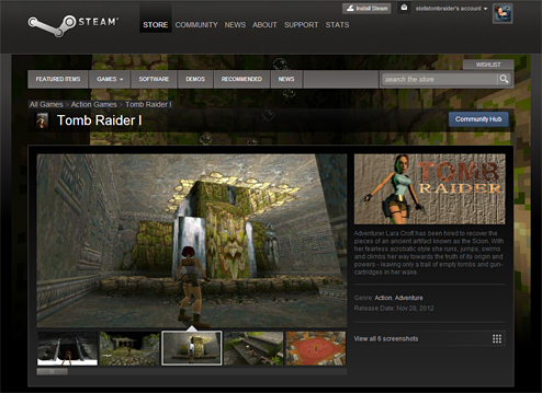 Tomb Raider now available on Steam
