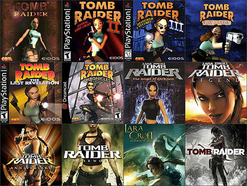 Tomb Raider game boxes