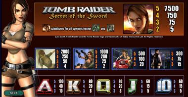 Spiele Tomb Raider Secret Of The Sword - Video Slots Online