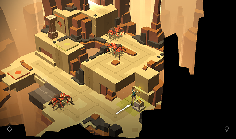 Lara Croft Go Walkthrough The Cliffs Of Fire Maze Of Spirits Part 3