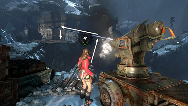 Rise Of The Tomb Raider Abandoned Mines Crossing The Canyon The First Time