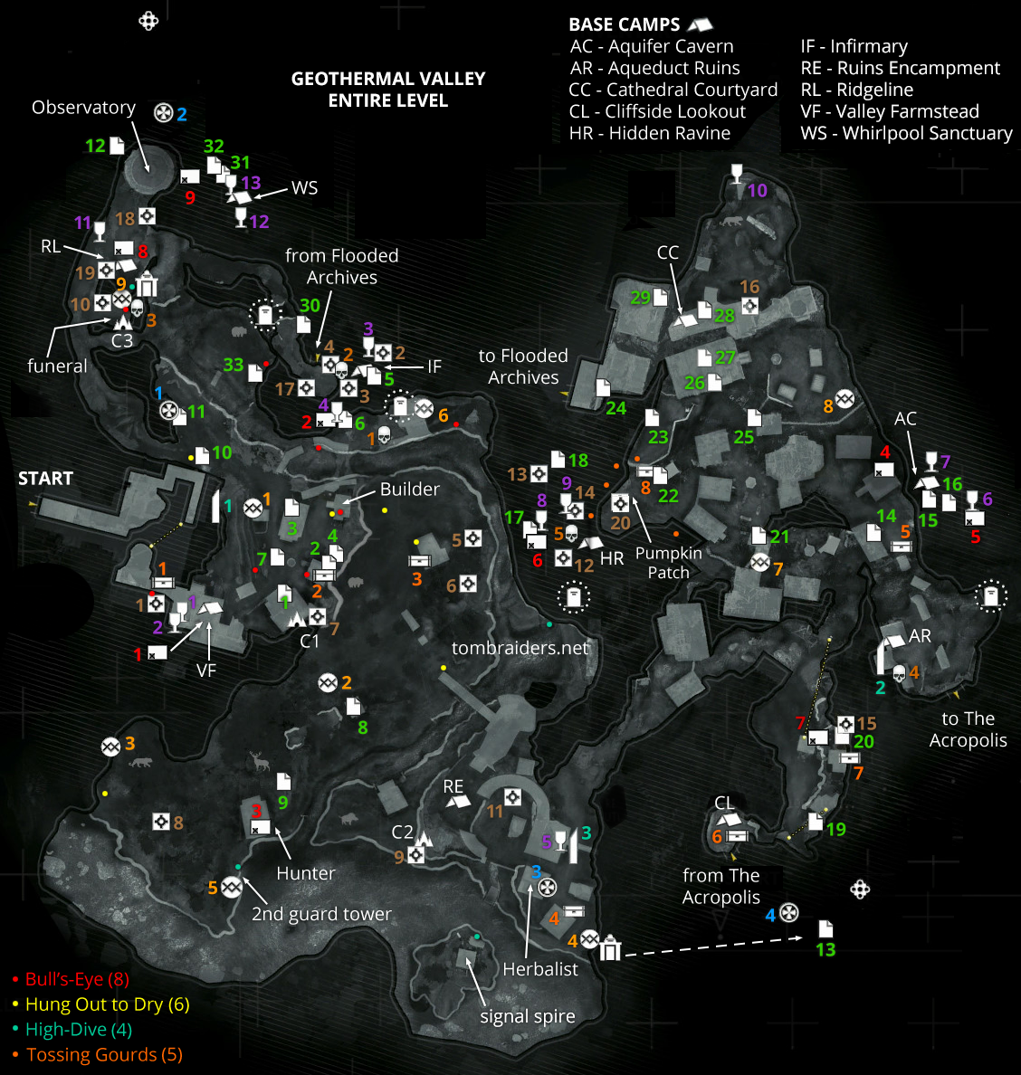 geothermal valley archivist maps rise of the tomb raider