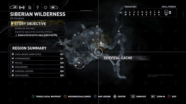Rise Of The Tomb Raider Siberian Wilderness Collectibles