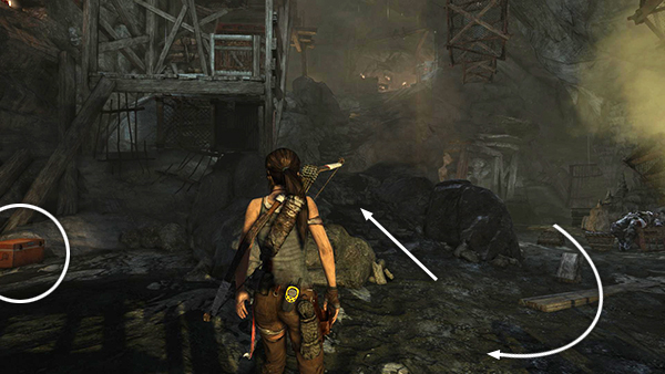 Tomb Raider Geothermal Caverns Guarded Tunnel With Base