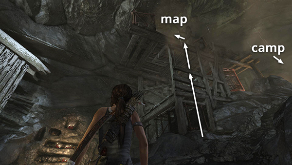 Geothermal Caverns Map TOMB RAIDER: Geothermal Caverns   Guarded Tunnel with Base Camp